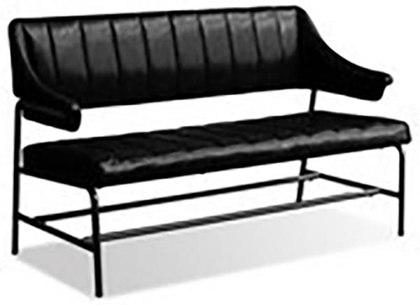 ベンチ ブラック ダイニングベンチ ベンチソファー ベンチチェア カフェ ゲイズ イス 椅子 いす おしゃれ レトロ モダン 高級感