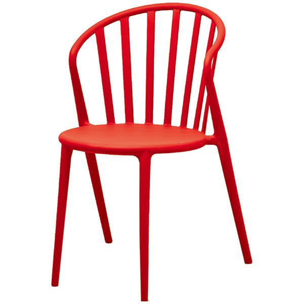 おしゃれ カフェチェア 4脚セット レッド ガーデンチェア 椅子 スタッキング 店舗用イス 野外 ダイニングチェア リビング キッチン カフェ イス いす ブルックリン インダストリアル 西海岸 男前インテリア