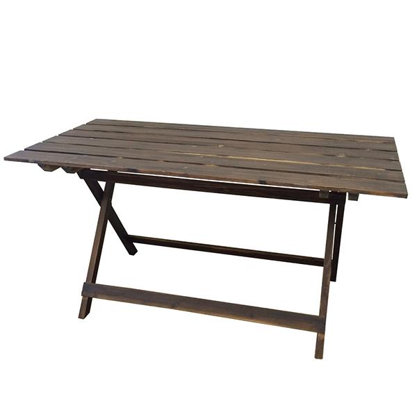 テーブル 単品 ウッドファニチャー クリア塗装 折り畳みテーブル ガーデンテーブル 野外 テラス カフェ バルコニー 西海岸 ブルックリン インダストリアル 男前インテリア おしゃれ