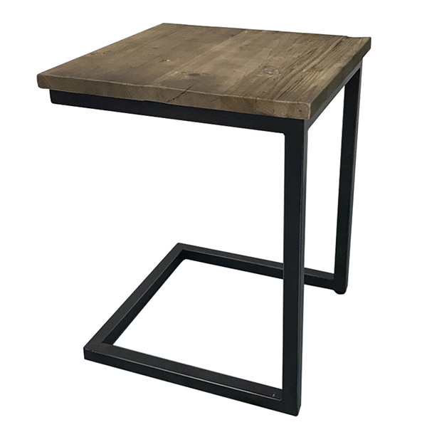 古材 ソファサイドテーブル サイドテーブル ブルックリン ナイトテーブル 木製 リビング 寝室 ソファーサイド ベッドサイド アイアン 西海岸 インダストリアル 男前インテリア おしゃれ