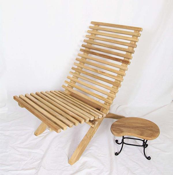 ハンディチェア 木製 チーク ガーデンチェアー 1人掛け いす 椅子 ひとりがけ チェア テラス カフェ おしゃれ モダン レトロ 高級感