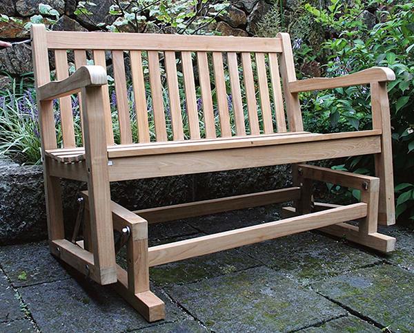 ジュリアロッキングベンチ 木製 ガーデンチェアー ガーデンベンチ 長椅子 イス チェア チェアー 椅子 おしゃれ アンティーク モダン レトロ