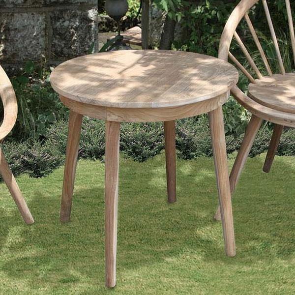 パイロットテーブル 単品 チーク 木製 ガーデンテーブル 机 テラス アウトドア おしゃれ モダン