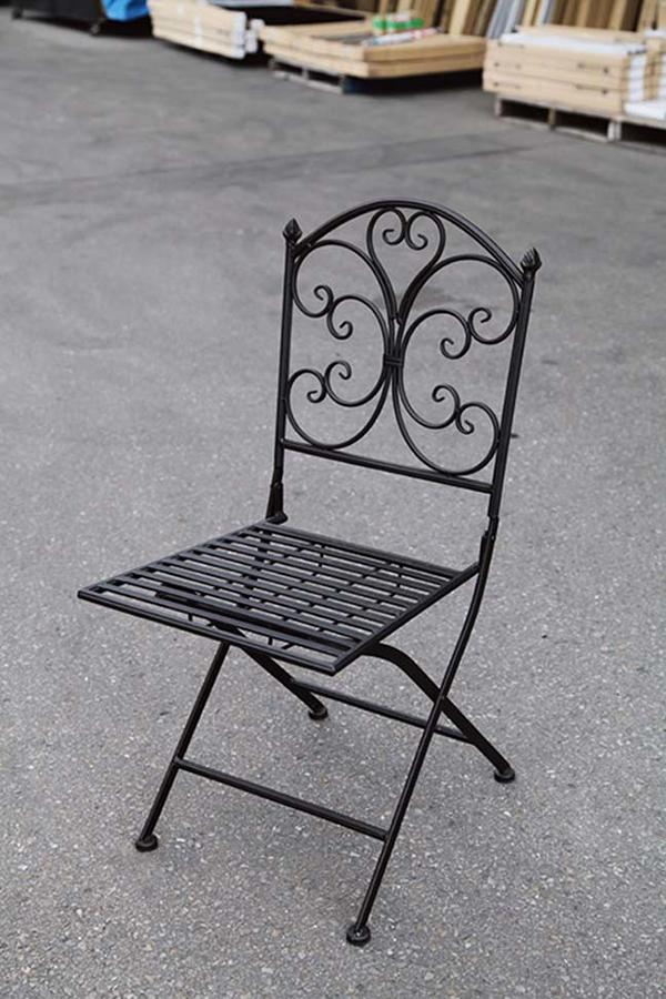 折り畳みアイアンチェア 折りたたみ ガーデンチェアー 1人掛け いす 椅子 ひとりがけ チェア テラス カフェ おしゃれ モダン レトロ 高級感