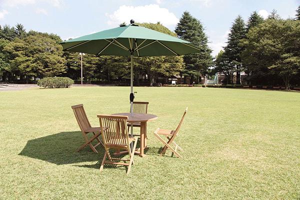 2.7mΦ パラソル アルミアンブレラ ダークグリーン ベース別売り 日よけ 日除け ガーデンパラソル 屋外 庭 アウトドア カフェ おしゃれ