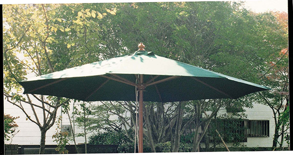 2.7mφ パラソル アンブレラ グリーン ベース別売り 日よけ 日除け ガーデンパラソル 屋外 庭 アウトドア カフェ おしゃれ