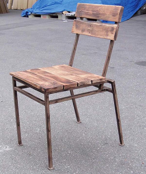 スクラップチェア(2脚入) スタッキング ガーデンチェアー 1人掛け いす 椅子 ひとりがけ チェア テラス カフェ おしゃれ モダン レトロ 高級感 アンティーク