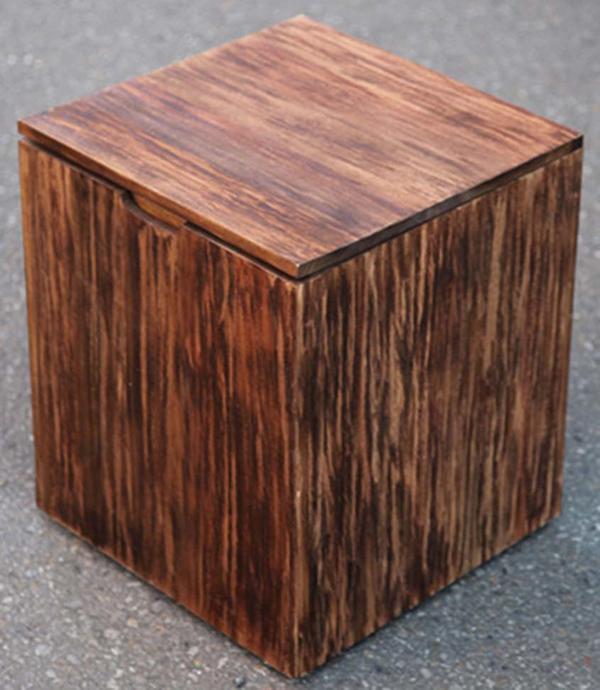 スクラップボックスチェア 収納 スツール 木製 ダイニングチェアー カフェ 食卓椅子 いす イス リビング おしゃれ モダン レトロ アンティーク