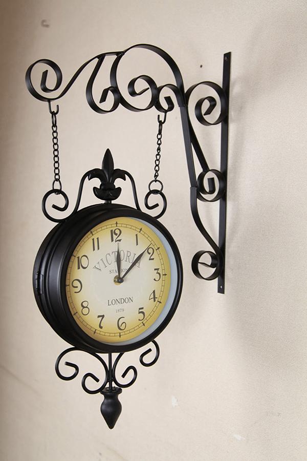 ガーデン時計 ハンギングビクトリア 掛け時計 掛時計 ウォールデコレーション アンティーク インテリア雑貨 おしゃれ レトロ 壁掛時計