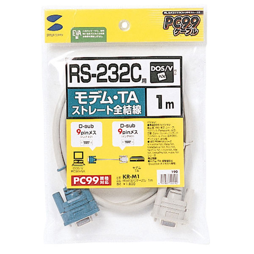 サンワサプライ サンワサプライ RS-232Cケーブル(モデム・TA用・1m) KR-M1 敬老の日