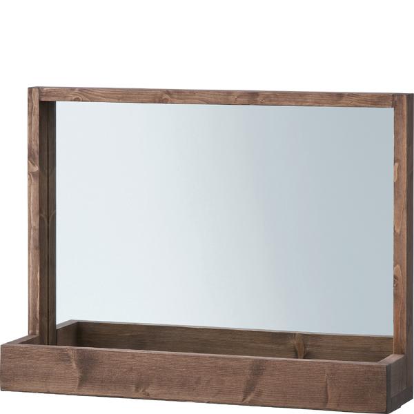 卓上 ミラー 鏡 ブルックリン モダン スタンドミラー カガミ 西海岸 インテリア 北欧 おしゃれ メイク鏡 デスクミラー レトロ かがみ 男前 木製鏡