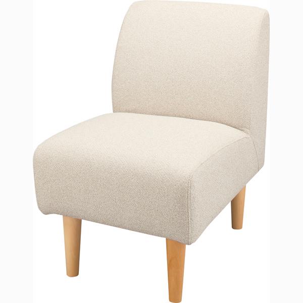 ソファ 1人掛け ソファー コンパクト ダイニングソファー ファブリック 布張り 脚付き 一人掛け 1人用 イス 椅子 北欧 モダン レトロ カフェ風 おしゃれ かわいい リビング 一人暮らし アイボリー