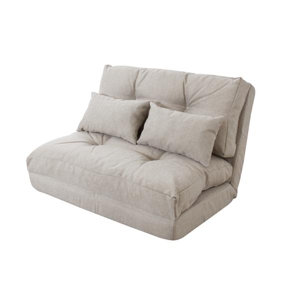 ソファベッド ソファーベッド 折りたたみ コンパクト 来客用ベッド 折り畳みベッド ローソファー ソファーベット フロアソファー フロアーソファー リクライニングソファー ソファマット おしゃれ 一人暮らし ベージュ