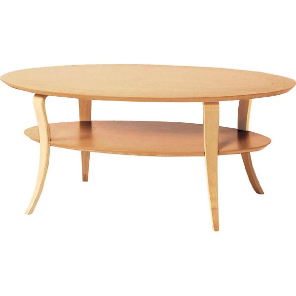センターテーブル 幅100cm 木製 棚 収納 オーバルテーブル だ円形 楕円形 ローテーブル リビングテーブル コーヒーテーブル カフェテーブル 机 つくえ 作業台 モダン 北欧 ブルックリン 西海岸 男前 インテリア おしゃれ アンティーク ナチュラル