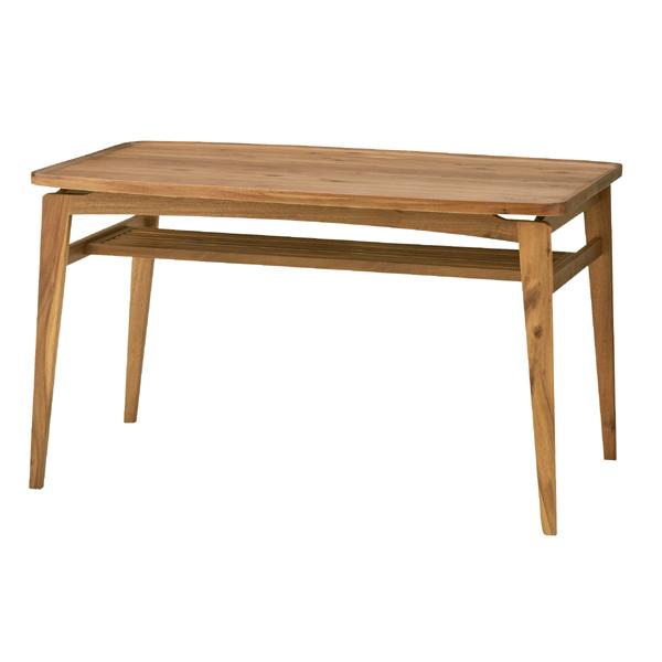 ダイニング テーブル 単品 シンプル 棚付きダイニングテーブル 天然木 木製 おしゃれ 机 つくえ 食卓机 作業台 食卓テーブル リビングテーブル 4人用 4人掛け テーブル 幅120cm 西海岸 モダン 北欧 ナチュラル