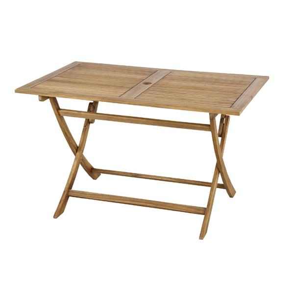 折りたたみテーブル 幅120cm 木製 天然木 アカシア ガーデンテーブル フォールディングテーブル アウトドア キャンプ ガーデンファニチャー カフェ オープンテラス バルコニー テラス 庭 ベランダ おしゃれ