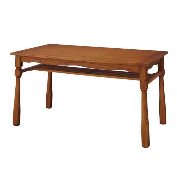 ダイニングテーブル 単品 4人用 4人掛け テーブル 幅120cm 棚付き カントリー 北欧 シンプル ダイニング テーブル 天然木 木目 木製 おしゃれ 机 つくえ 食卓机 作業台 食卓テーブル リビングテーブル アンティーク 西海岸 モダン ナチュラル
