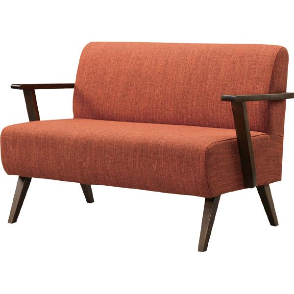 ソファ 2人掛け 二人掛け 2人用 イス 椅子 チェアー チェア 肘付き 木製 北欧 モダン レトロ カフェ風 西海岸 ブルックリン おしゃれ かわいい リビング 一人暮らし