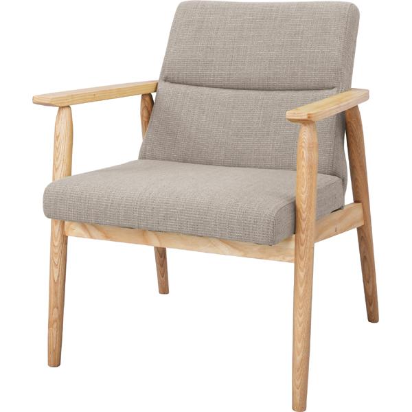 ソファー ソファ 1人掛け 一人掛け 1人用 イス 椅子 チェアー チェア 肘付き 木製 北欧 モダン レトロ カフェ風 西海岸 ブルックリン おしゃれ かわいい リビング 一人暮らし ベージュ