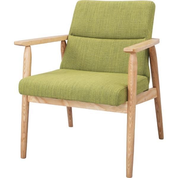 ソファー ソファ 1人掛け 一人掛け 1人用 イス 椅子 チェアー チェア 肘付き 木製 北欧 モダン レトロ カフェ風 西海岸 ブルックリン おしゃれ かわいい リビング 一人暮らし グリーン