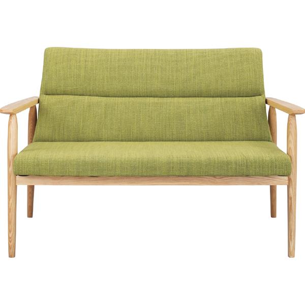 ソファー ソファ 2人掛け 二人掛け 2人用 イス 椅子 チェアー チェア 肘付き 木製 北欧 モダン レトロ カフェ風 西海岸 ブルックリン おしゃれ かわいい リビング 一人暮らし グリーン