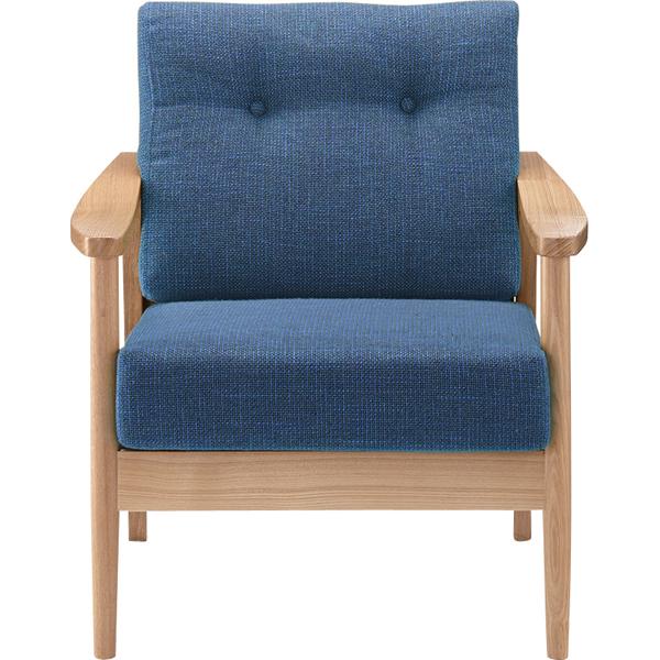 ソファー ソファ 1人掛け 一人掛け 1人用 イス 椅子 チェアー チェア 肘付き 木製 天然木 北欧 モダン レトロ カフェ風 西海岸 ブルックリン おしゃれ かわいい リビング 一人暮らし ブルー