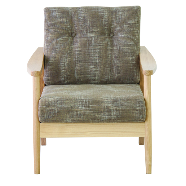 ソファー ソファ 1人掛け 一人掛け 1人用 イス 椅子 チェアー チェア 肘付き 木製 天然木 北欧 モダン レトロ カフェ風 西海岸 ブルックリン おしゃれ かわいい リビング 一人暮らし ブラウン