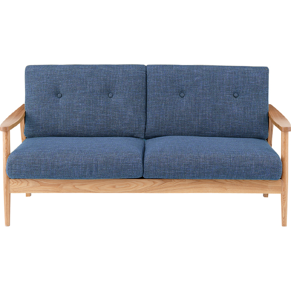 ソファー ソファ 3人掛け 三人掛け 3人用 イス 椅子 チェアー チェア 肘付き 木製 天然木 北欧 モダン レトロ カフェ風 西海岸 ブルックリン おしゃれ かわいい リビング 一人暮らし ブルー
