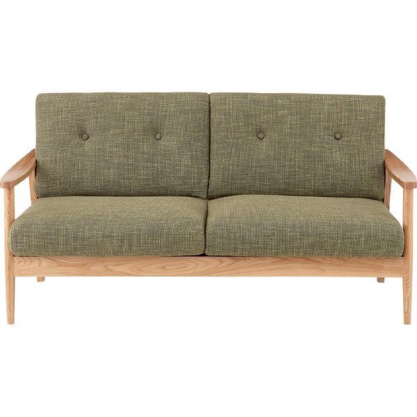 ソファー ソファ 3人掛け 三人掛け 3人用 イス 椅子 チェアー チェア 肘付き 木製 天然木 北欧 モダン レトロ カフェ風 西海岸 ブルックリン おしゃれ かわいい リビング 一人暮らし グリーン