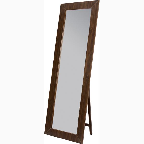 スタンドミラー 姿見 全身 飛散防止ミラー アンティーク ミラー 鏡 全身鏡 かがみ カガミ モダン 美容院 店舗 カフェ サロン レトロ モダン ブルックリン 西海岸 おしゃれ ブラウン