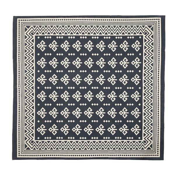 ラグ マット フロアマット 柄 コットン 綿 ラグマット デザイン ラグカーペット 180x180cm じゅうたん 絨毯 リビングラグ センターラグ シンプル おしゃれ 高級感 北欧