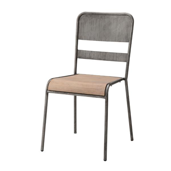 スタッキングチェア ダイニングチェアー食卓チェアー 椅子 いす イス スチール 天然木 積み重ねチェアー レトロ モダン 北欧 ブルックリン 西海岸 男前 インテリア おしゃれ