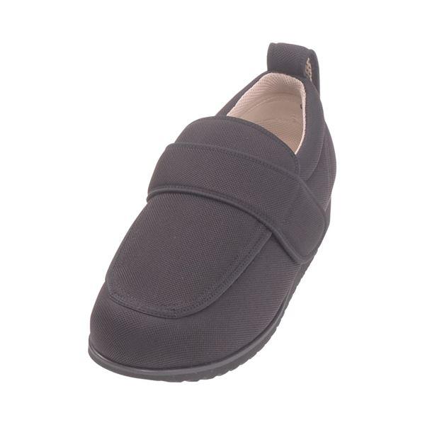 介護靴 外出用 NEWケアフル 5E(ワイドサイズ) 7007 両足 徳武産業 あゆみシリーズ /LL (24.0~24.5cm) 黒