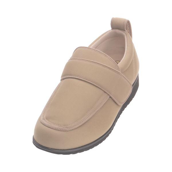 介護靴 外出用 NEWケアフル 7E(ワイドサイズ) 7008 両足 徳武産業 あゆみシリーズ /5L (27.0~27.5cm) ベージュ