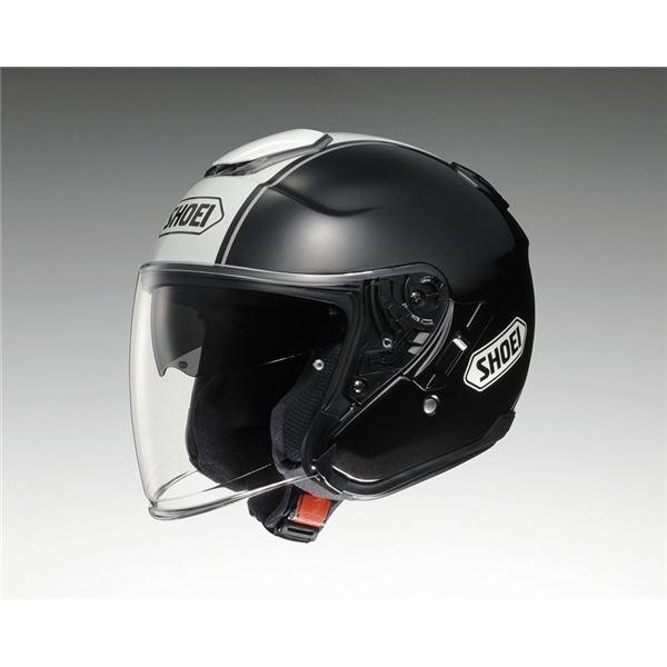 ジェットヘルメット シールド付き J-CRUISE CORSO TC-5 ブラック/ホワイト M 【バイク用品】