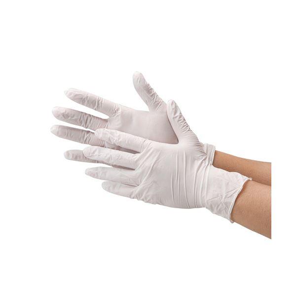 川西工業 ニトリル極薄手袋 粉なしホワイトM