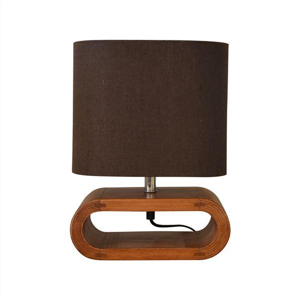 テーブルライト(卓上照明器具) 北欧 ファブリック×天然木 ELUX(エルックス) UROS Table ブラウン 【電球別売】【代引不可】