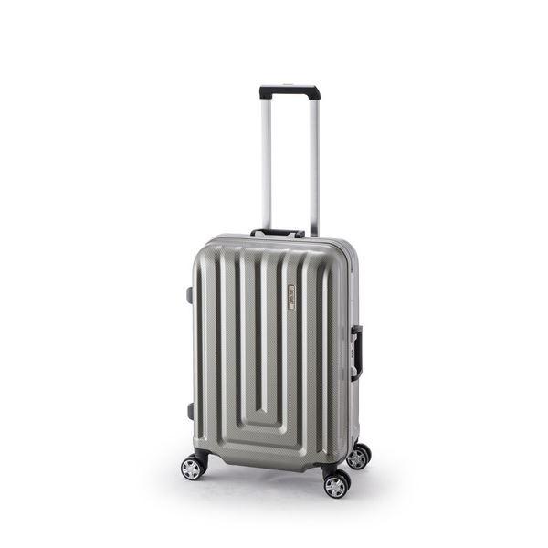 スーツケース/キャリーバッグ 【カーボンシルバー】 52L ダイヤル式 TSAロック アジア・ラゲージ 『MAX SMART』