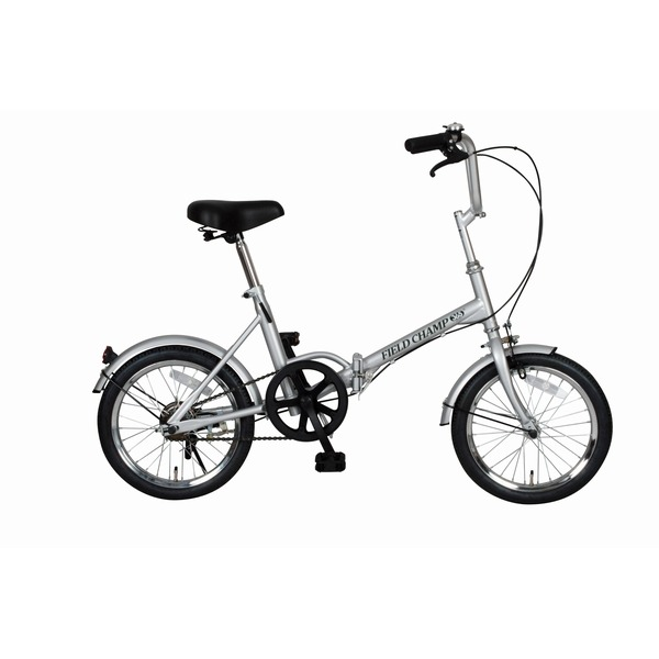 折りたたみ自転車/スポーツバイク 【シングルギア】 シルバー 16インチ スチール 『FIELD CHAMP365』【代引不可】