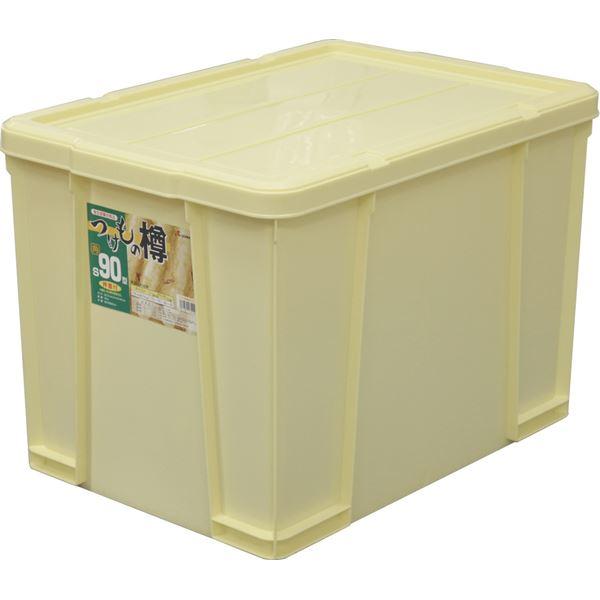 【3セット】 漬物樽/漬物用品 【角型 S90】 アイボリー 材質:PP 〔キッチン用品 家庭用品 手づくり〕【代引不可】