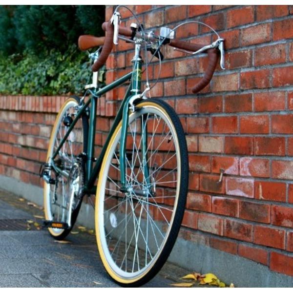 ロードバイク 700c(約28インチ)/アイビーグリーン(緑) シマノ21段変速 重さ/14.4kg 【Raychell】 レイチェル RD-7021R【代引不可】