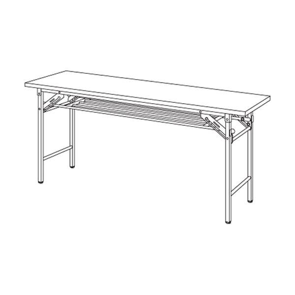 弘益 折りたたみテーブル アイボリー YKT-1545(IV)