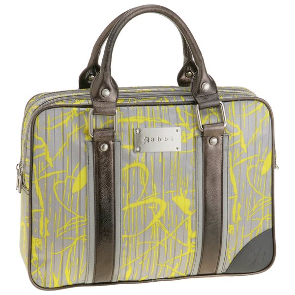 abbi PCバッグ Carrie(キャリー)プリントトート yellow & Gray