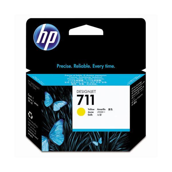 (まとめ) HP711 インクカートリッジ イエロー 29ml 染料系 CZ132A 1個 【×3セット】