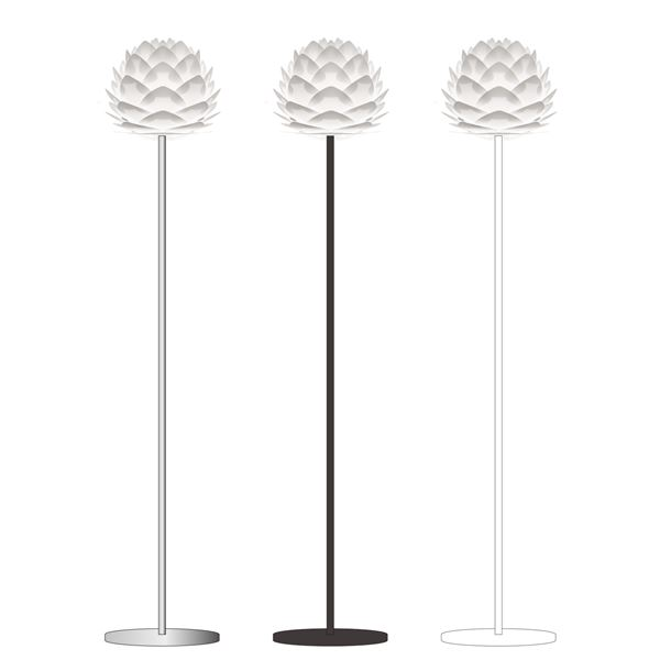 スタンドライト(フロアライト/照明器具) 北欧 ELUX(エルックス) VITA Silvia mini ブラックベース 【電球別売】【代引不可】