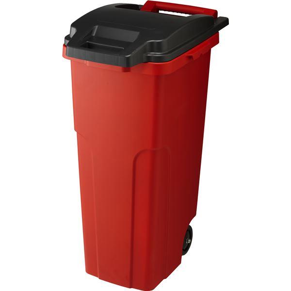 【3セット】 可動式 ゴミ箱/キャスターペール 【70C2 2輪】 レッド フタ付き 〔家庭用品 掃除用品〕【代引不可】