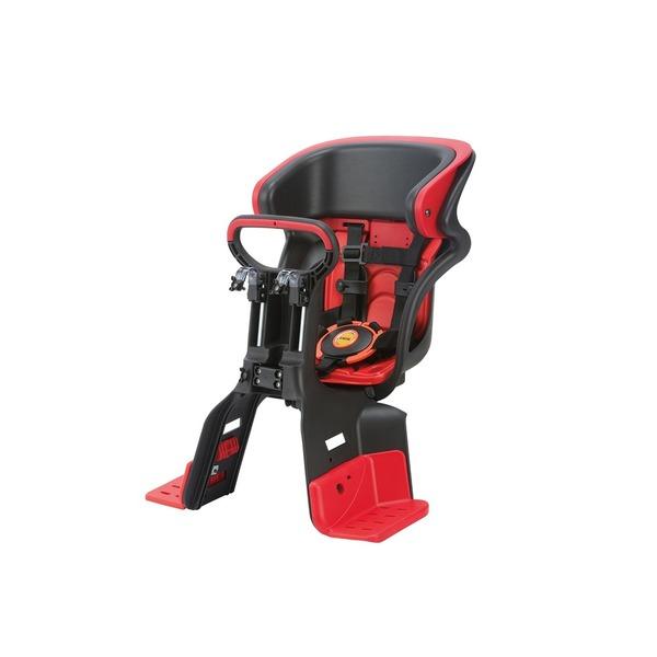 ヘッドレスト付きフロント子供乗せ(自転車用チャイルドシート) 前用 【OGK】FBC-011DX3 ブラック(黒)/レッド(赤)【代引不可】