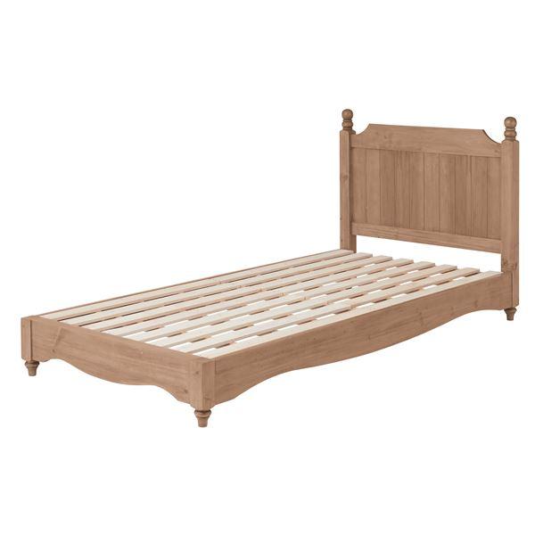 アンティーク調ベッド/すのこベッド 本体 【シングルサイズ】 木製 木目調 『バーニー』 PM-619