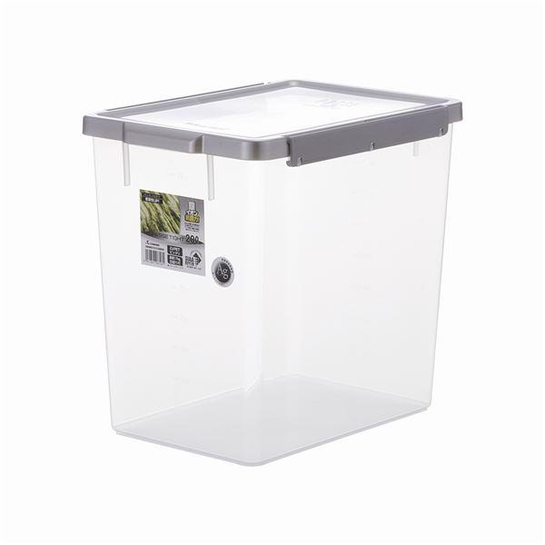 【8セット】 保存容器/キッチン用品 【TW-200 】 シルバー アップロック式 シリコンパッキン付き 『パッセタイト』【代引不可】