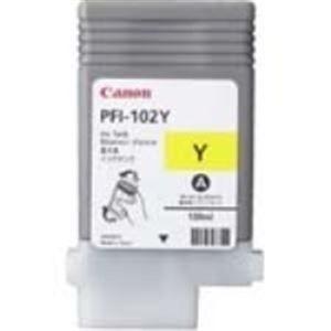 (業務用3セット) Canon キヤノン インクカートリッジ 純正 【PFI-102Y】 イエロー(黄)